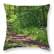 A Walk Through The Bluebells Throw Pillow