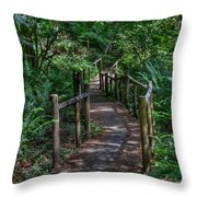 A Walk Through The Forest Throw Pillow