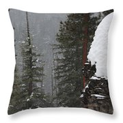 A Walk Through Winter Throw Pillow