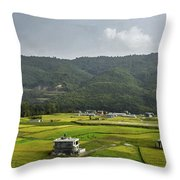 A Watcher In The Hill Throw Pillow