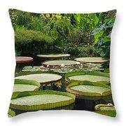 A Water Garden Throw Pillow