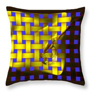 A Waterdrop In Weave  Throw Pillow