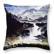 A Waterfall Throw Pillow