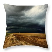 Nature's Watering Of The Crops Throw Pillow
