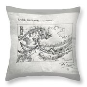 A Wave For Dr Wave Throw Pillow