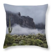 A Wave Of Fog On The Superstitions  Throw Pillow