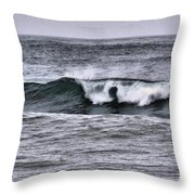 A Wave On The Ocean Throw Pillow