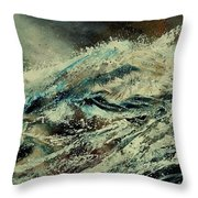 A Wave Throw Pillow