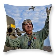 A Wave To A Friend Throw Pillow