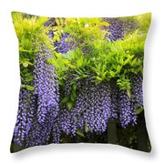 A Wealth Of Wisteria Throw Pillow