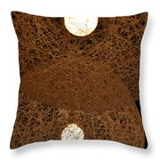 A Web Of Photons Throw Pillow