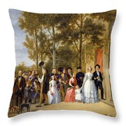 A Wedding At The Coeur Volant Throw Pillow
