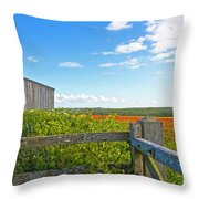 A West Pentire Farm Throw Pillow