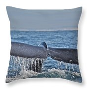 A Whale Of A Tale Throw Pillow