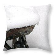 A Wheel Barrel Of Snow Throw Pillow