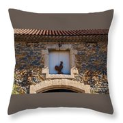 A Whimsical Wall In Lezignan, France Throw Pillow
