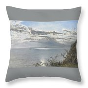 A White Calm After Thunder Showers Throw Pillow