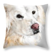 A White Golden Retriever Throw Pillow