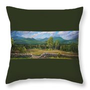 A  White Mountain View Throw Pillow