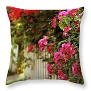 A White Picket Fence Throw Pillow