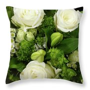 A White Roses Bouquet For You Throw Pillow