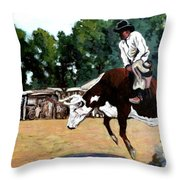 A Whole Lot Of Bull Throw Pillow
