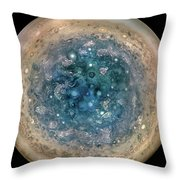 A Whole New Jupiter - First Science Results From The Juno Mission Throw Pillow