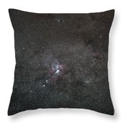 A Wide Field View Centered On The Eta Throw Pillow by Luis Argerich