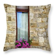 A Window In Florence Throw Pillow