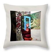 A Window Of Mind Throw Pillow