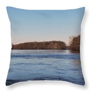 A Windswept River In March Throw Pillow