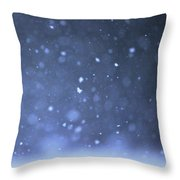 A Snowy Afternoon Throw Pillow
