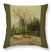 A Winter Day Throw Pillow