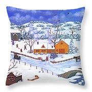 A Winter Evening Throw Pillow