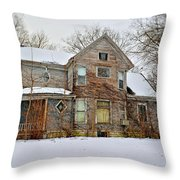 A Winter Haunting Throw Pillow