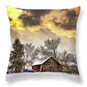 A Winter Sky Throw Pillow