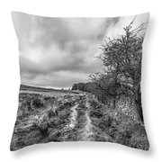 A Winter Track Throw Pillow