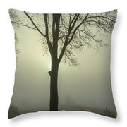 A Winter's Day In The Fog Throw Pillow