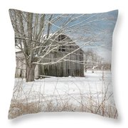 A Winters Day Square Throw Pillow
