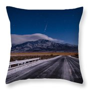 A Winters Meteor Throw Pillow