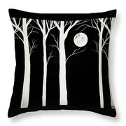 A Winters Night Throw Pillow