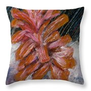 A Wintry Night Throw Pillow by Marita McVeigh