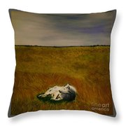 A Wolf Story Throw Pillow