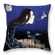 A Woman Ghost Appeared From A Well Throw Pillow