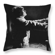 A Woman Sleep Walking Throw Pillow
