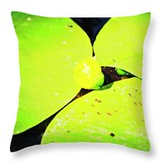 A Yellow Bud Of Waterlily Throw Pillow