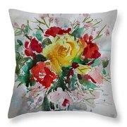 A Yellow Rose Throw Pillow
