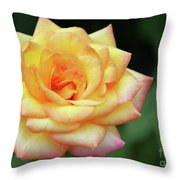 A Yellow Rose Throw Pillow