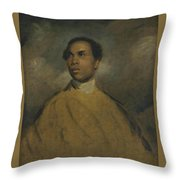A Young Black Throw Pillow