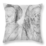 A Young Girl Of Cologne And Dbcrer Wife 1520 Throw Pillow